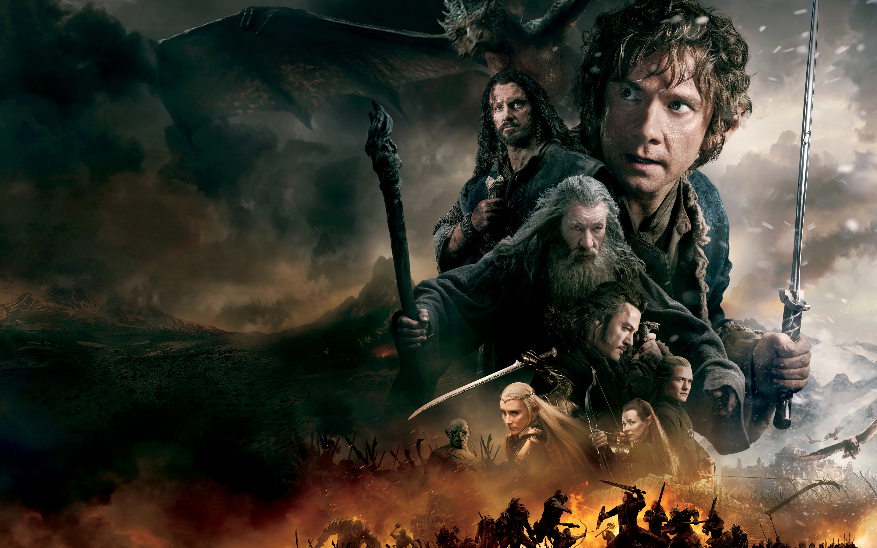 The Hobbit The Battle of the Five Armies Wallpaper 2   2880 X 2880x1800