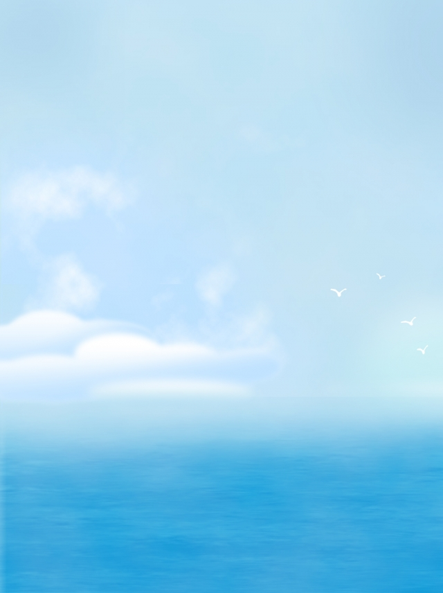 Full Hand Drawn Ocean Illustration Background Ocean Artistic 640x856