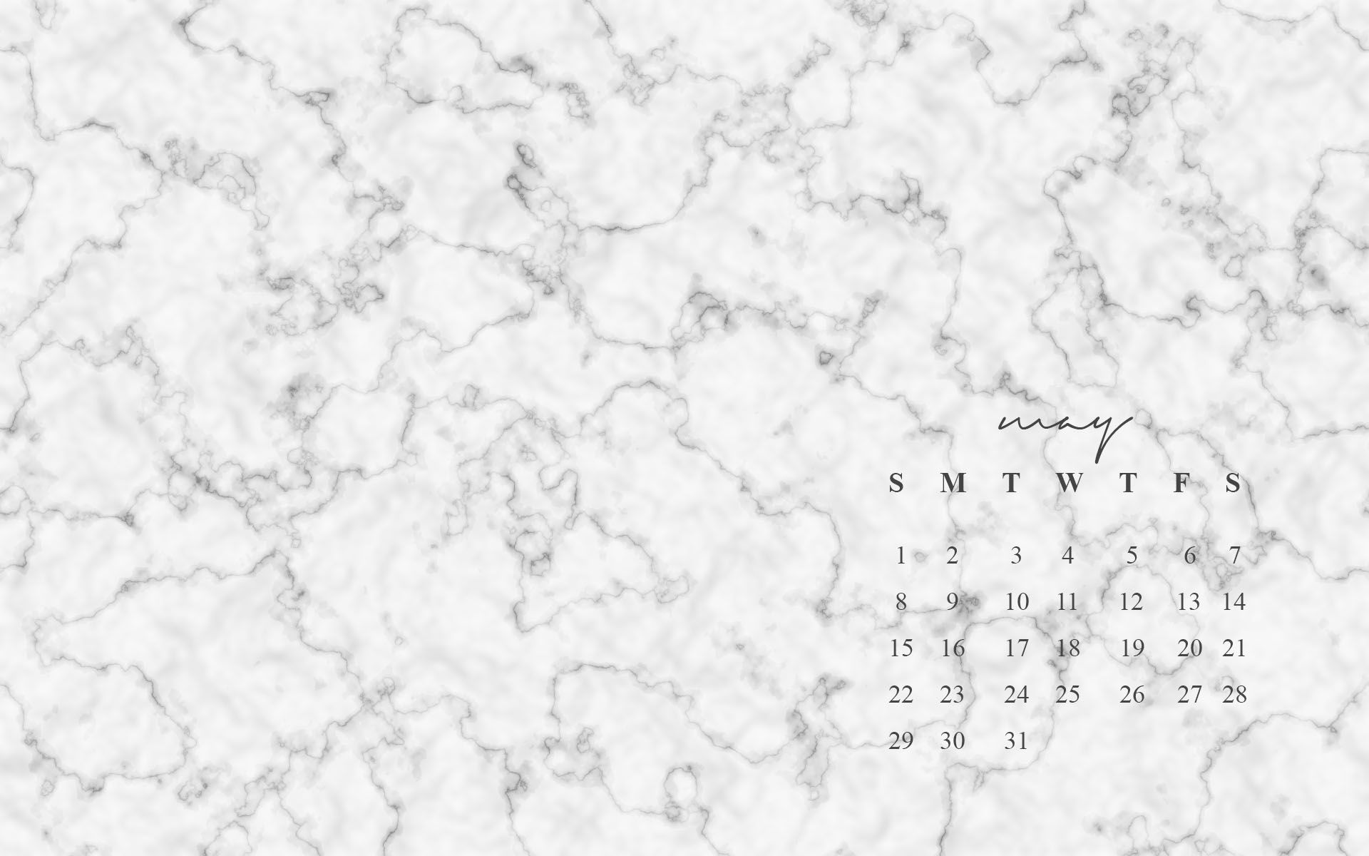 FREE May Desktop Wallpapers COLLEGE 2016 Marble desktop 1920x1200