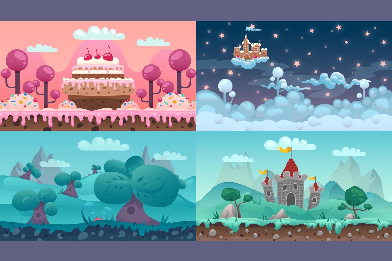Cartoon Parallax 2D Backgrounds   CraftPixnet 1440x960