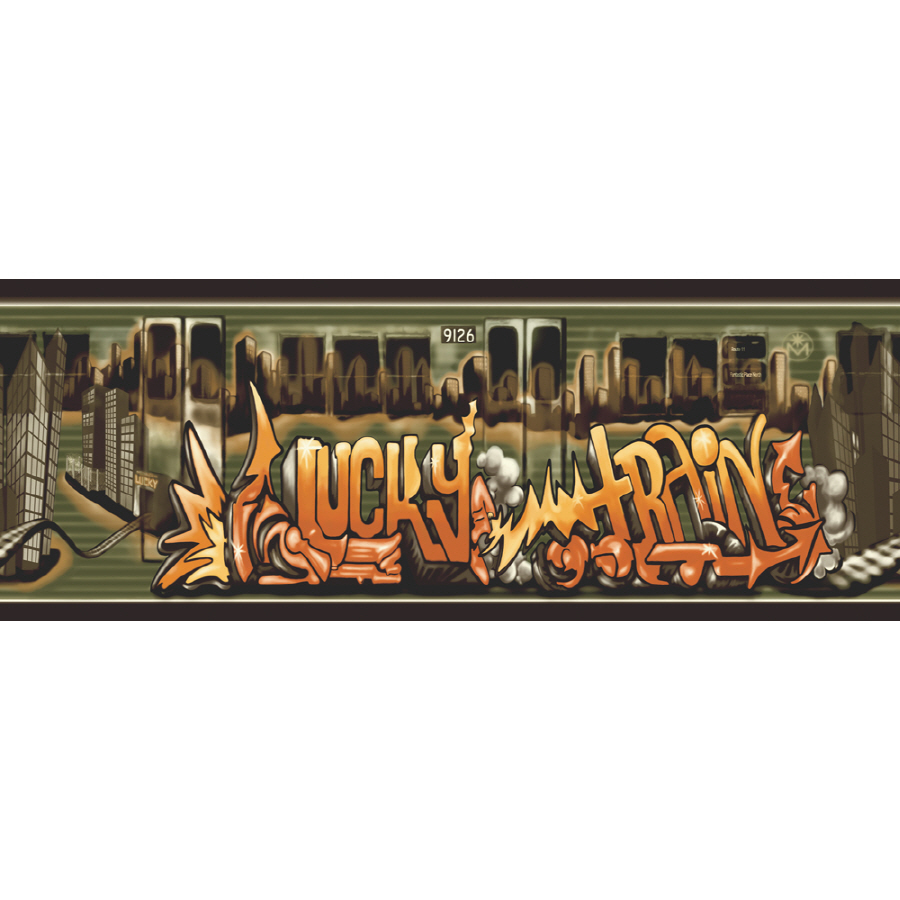 Sanitas 10 14 Lucky Train Prepasted Wallpaper Border at Lowescom 900x900