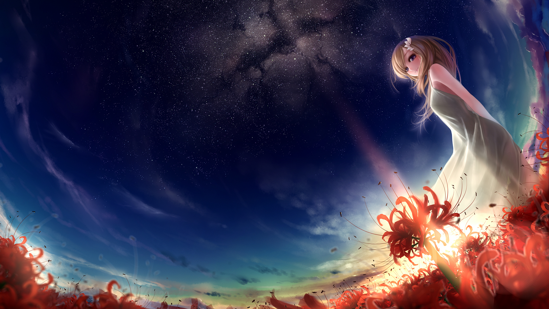 88+ Anime Sky Wallpapers on WallpaperSafari