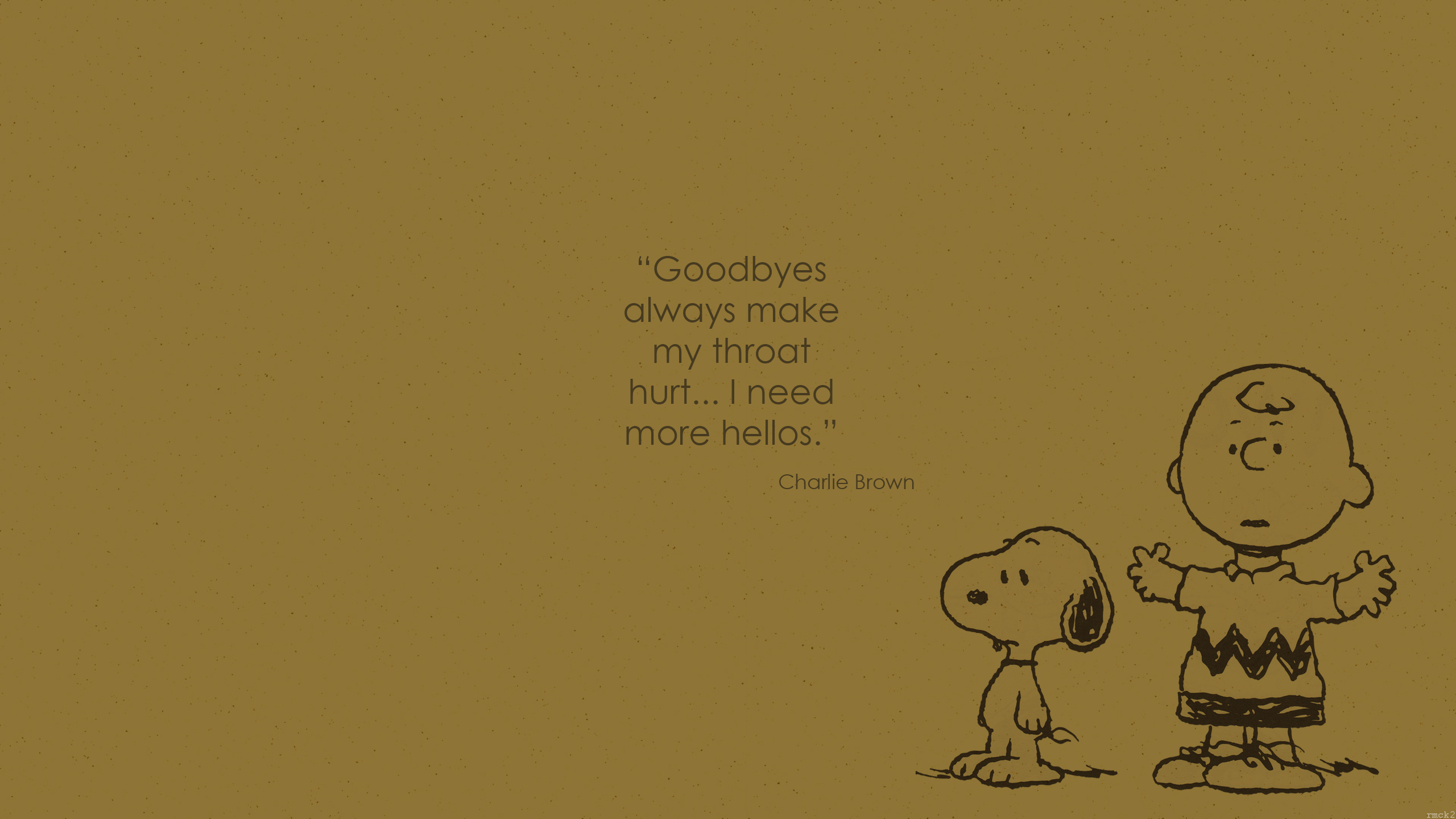 Wallpaper Charlie Brown quote 1 by rmck2 2560x1440