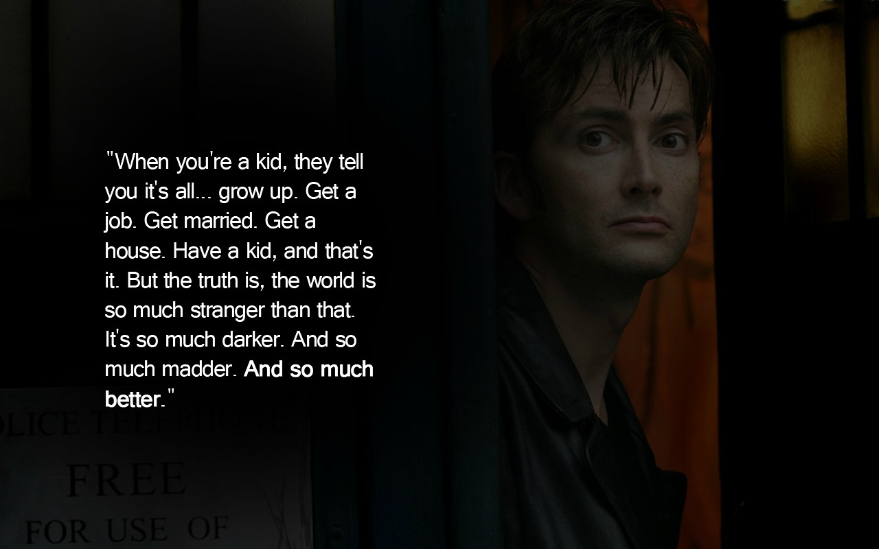 Free Download Who Wallpapers With David Tennant Quote The Art Mad