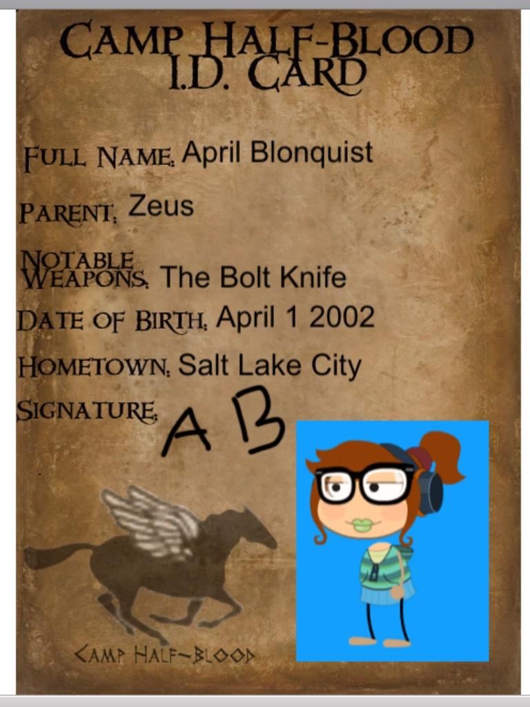 Camp Half Blood ID card by Mustdomath 768x1024