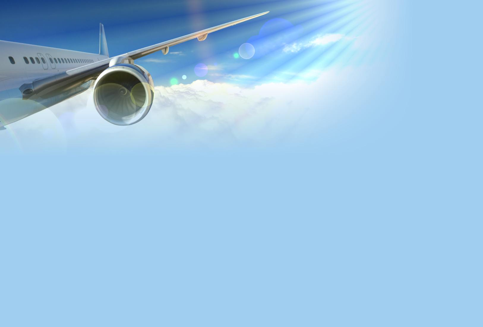 This is the Flight airplane cloud and sun ray background image You 1626x1100