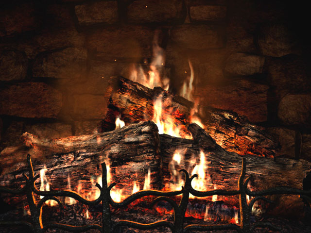 animated wallpaper Fireplace Animated Wallpaper 640x480