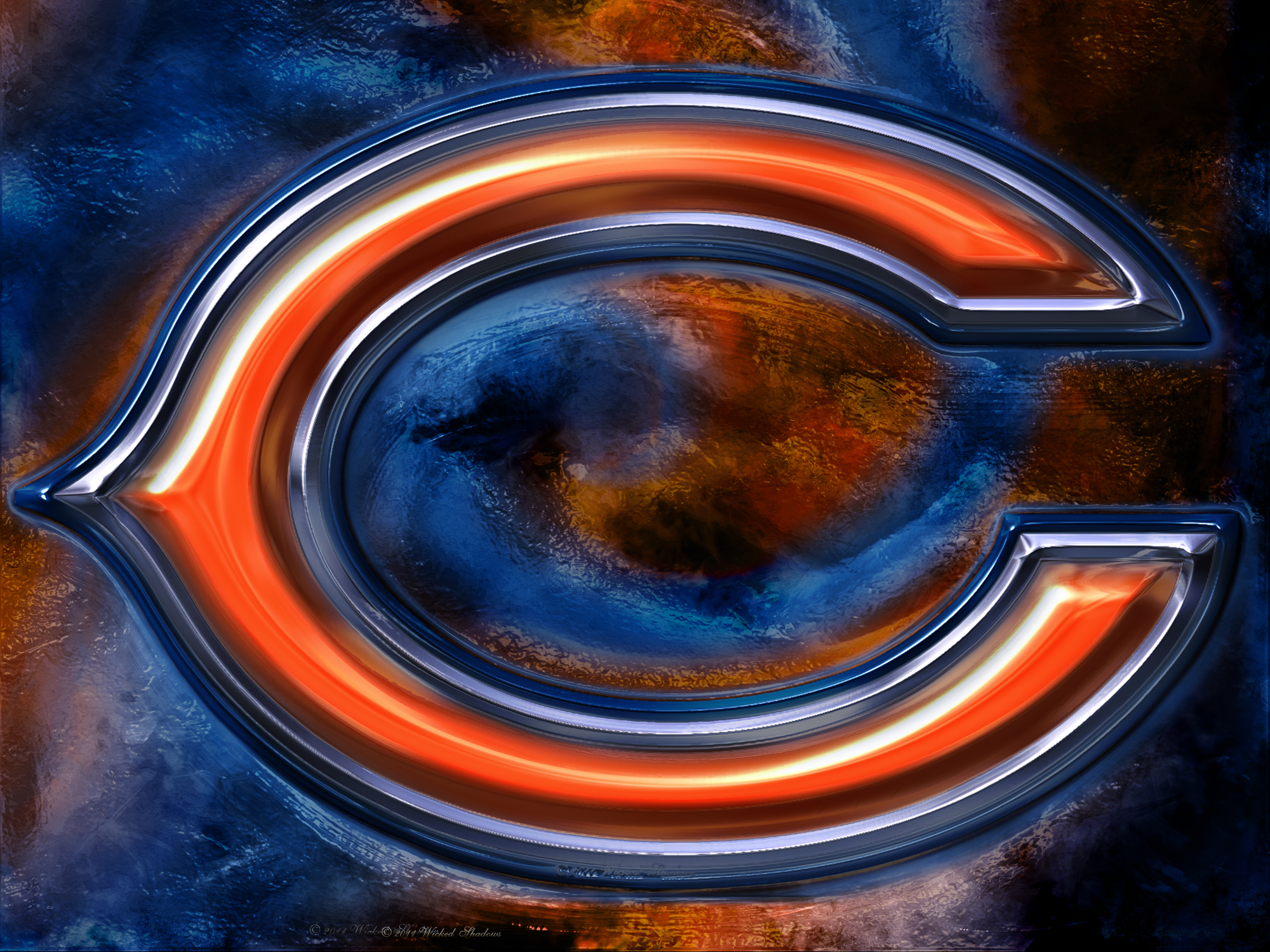 Chicago Bears 3D Logo Wallpaper Download Wallpaper 2000x1500