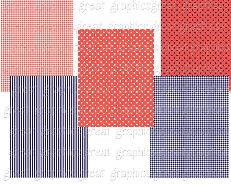 Printable Navy and Coral Digital Backgrounds 800x640