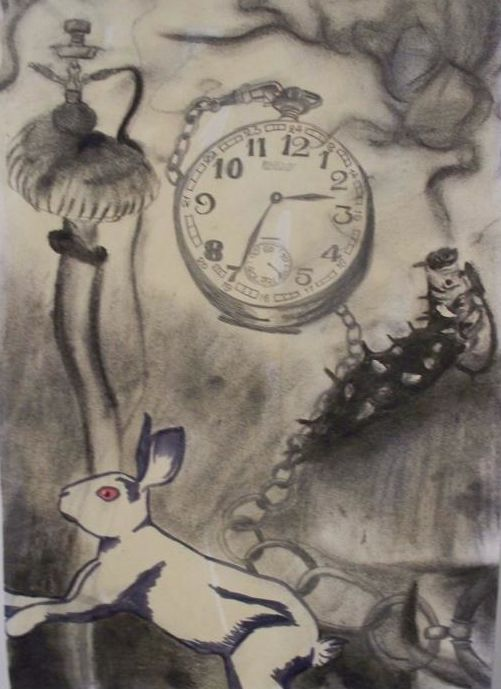 Alice in Wonderland drawing 501x689