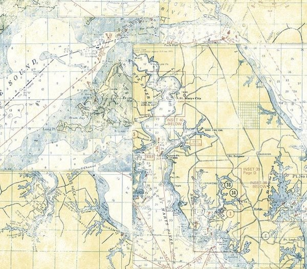 Photo collection nautical chart wallpaper pattern