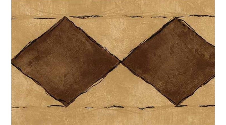 Home Brown Diamond Wallpaper Border 900x500