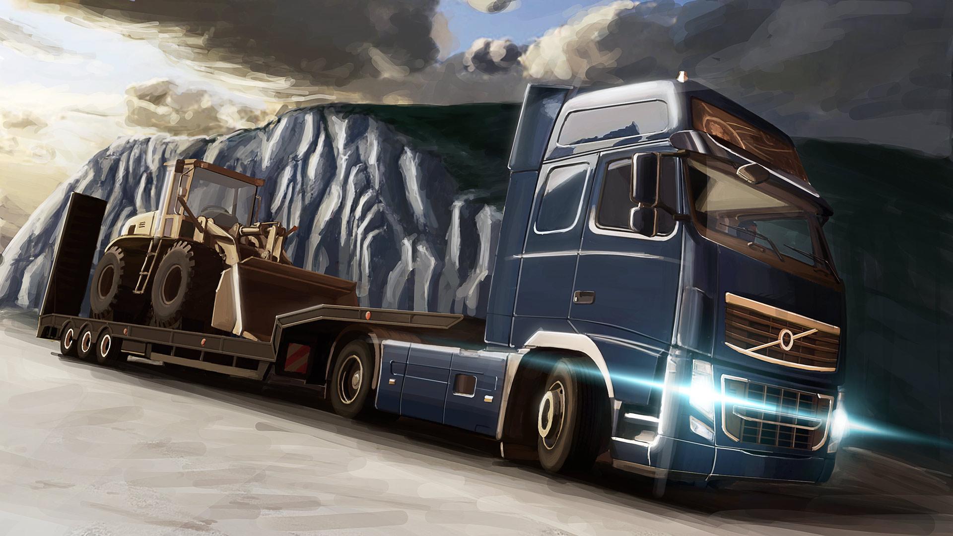 Game euro truck simulator 2 tractor semi rigs rig d wallpaper 1920x1080