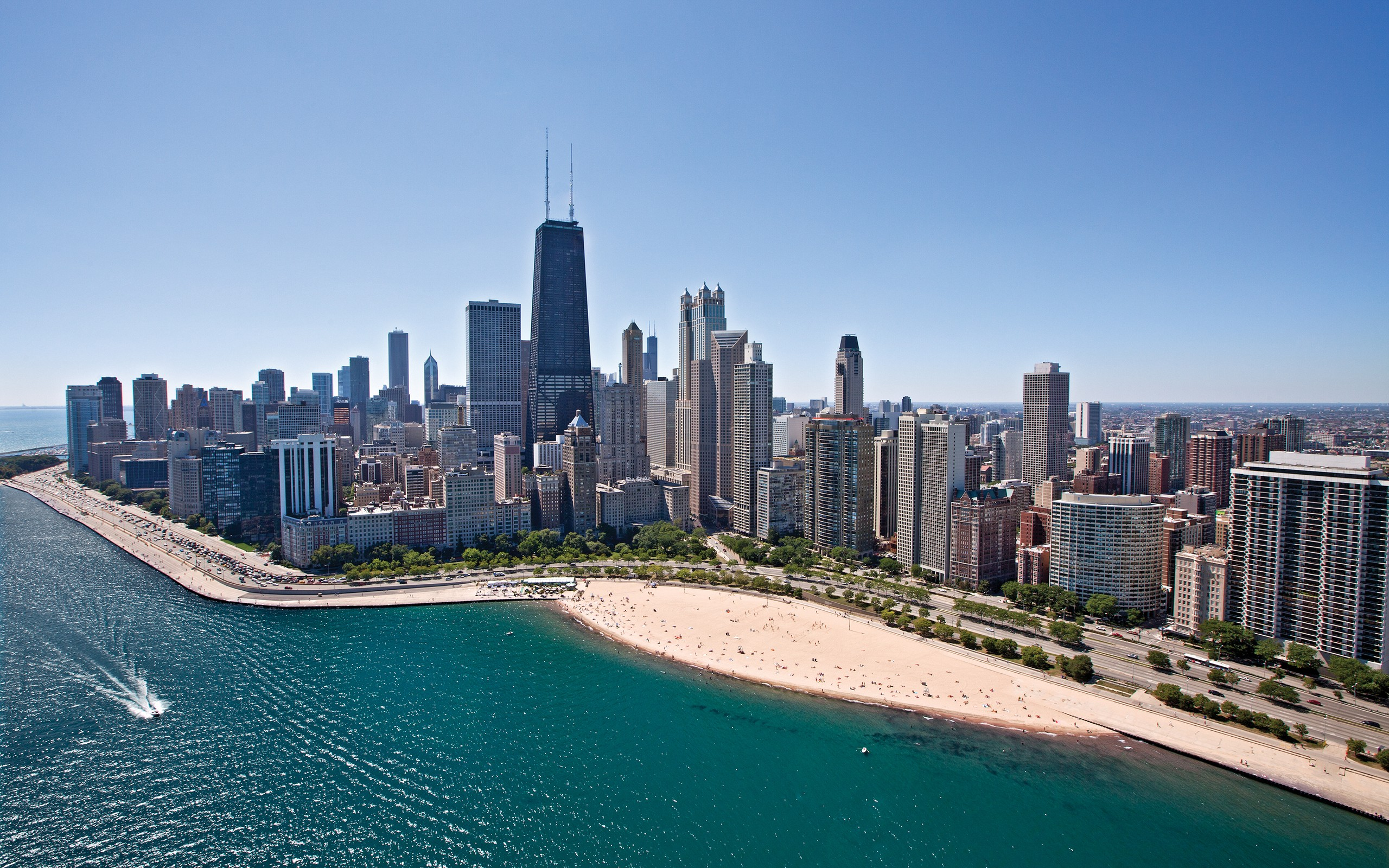 Beach in Chicago Illinois   Wallpaper 36112 2560x1600