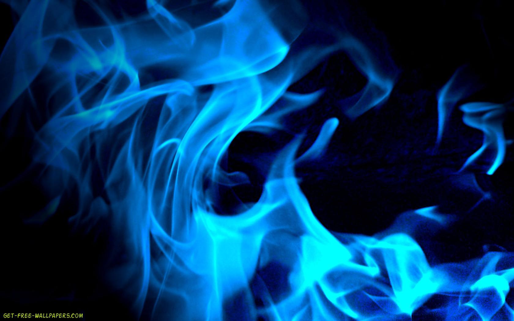 Download Blue Fire Wallpaper 1680x1050