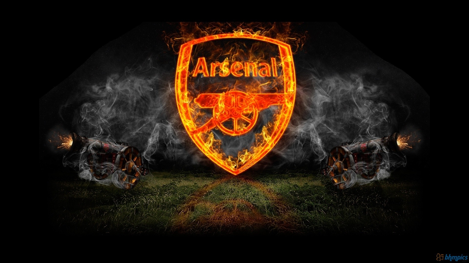 Arsenal FC Football Logo HD Wallpaper of Football   hdwallpaper2013 1920x1080