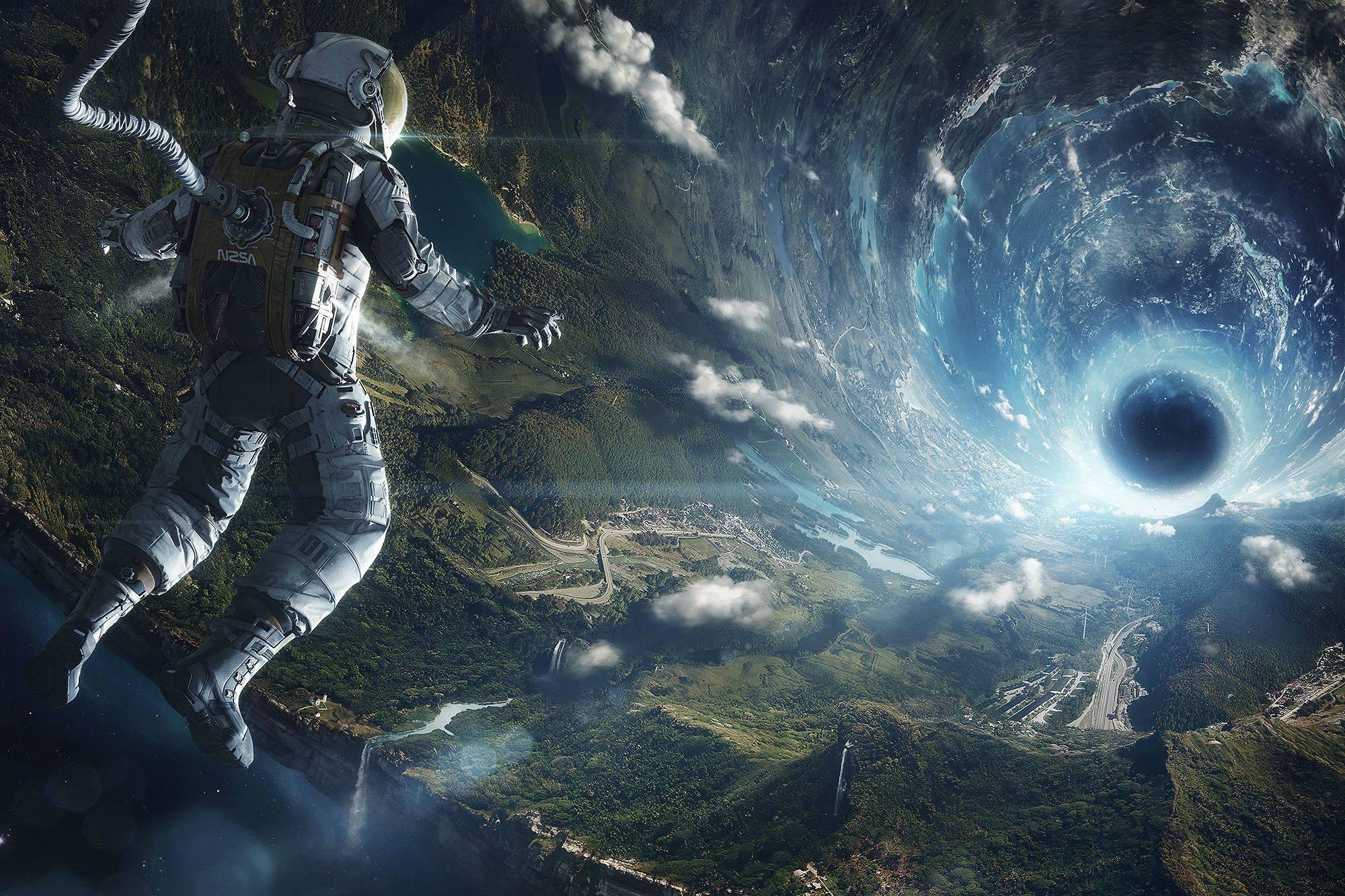 astronaut black hole wallpaper   Imgur 2000x1333