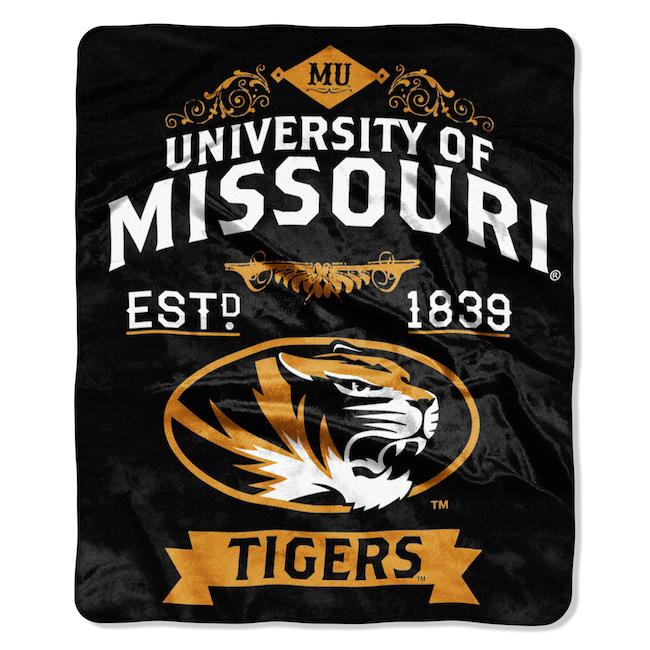 NCAA Missouri Tigers 50x60 Raschel Throw   Buy at Team Beddingcom 650x650