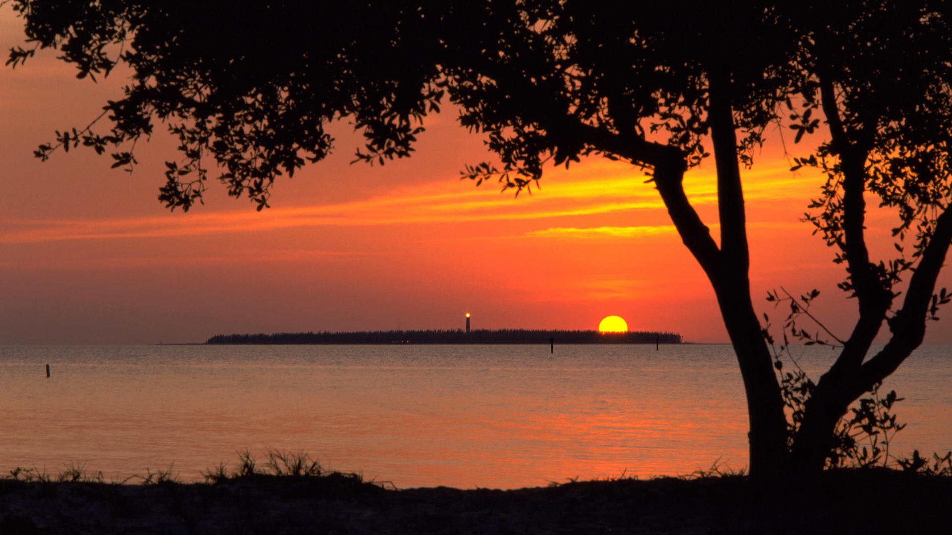 Backgrounds Sunset Desktop Florida Tortugas Jefferson National Park HD 1920x1080