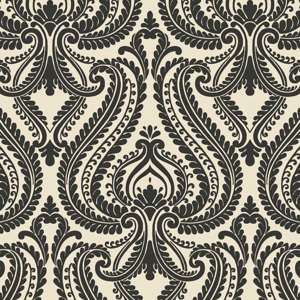 Imperial Black Modern Damask Wallpaper Bolt   Transitional   Wallpaper 600x600