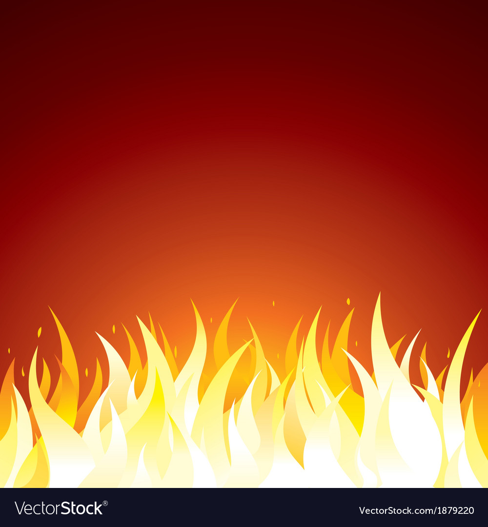 Fire Background Template for Text or Design Vector Image 1000x1080