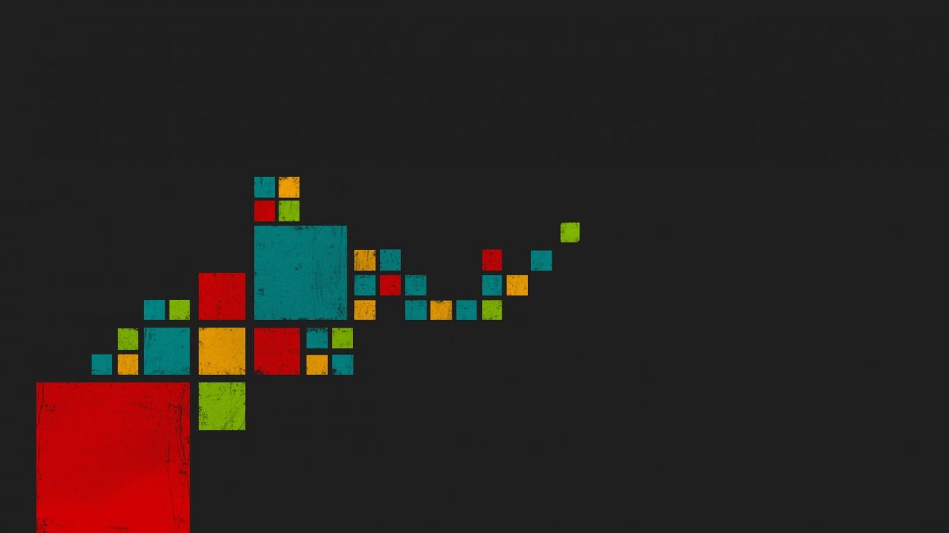 1366x768 Colored Pixels desktop PC and Mac wallpaper 1366x768