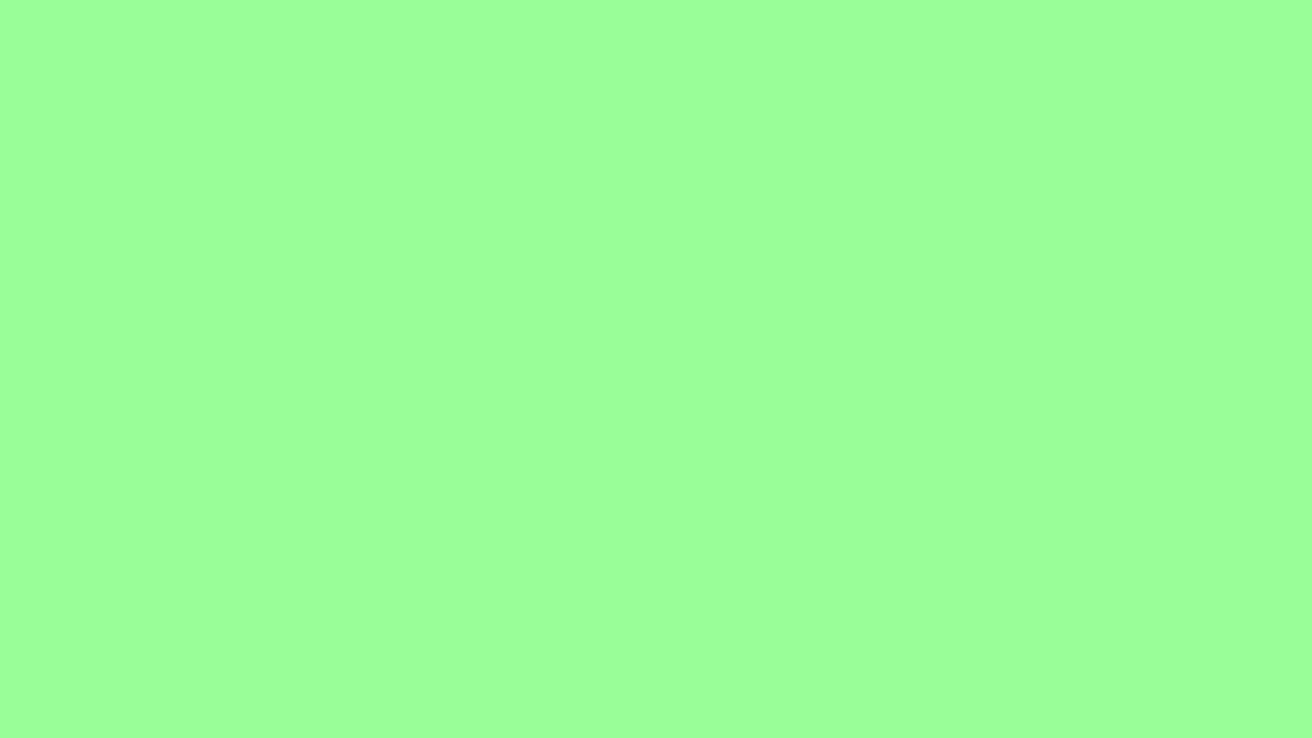 2560x1440 resolution Mint Green solid color background view and 2560x1440