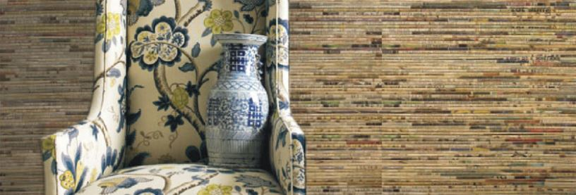 The Eco Floor Store Eco Surfaces Newsprint Textured Wallpaper 816x277