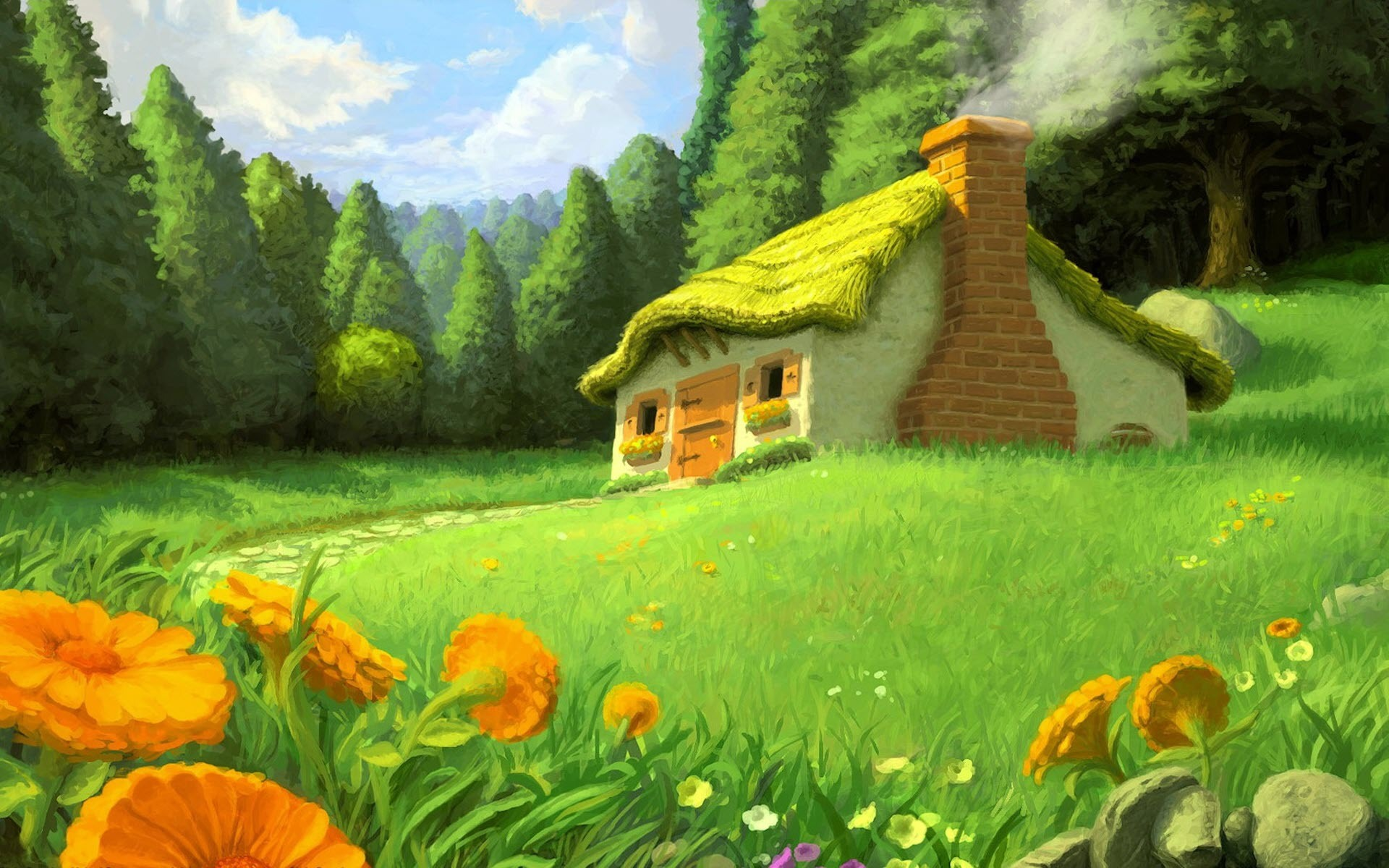 Country House desktop wallpaper 1920x1200