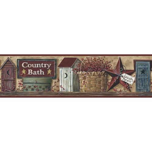 RoomMates Better Homes and Garden Country Bath Border   Walmartcom 500x500