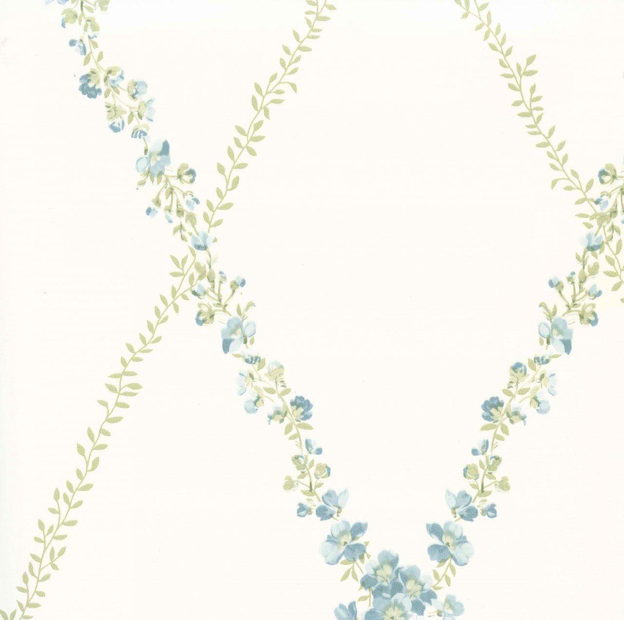 Blue Green CKB77712 Peony Trellis Wallpaper CKB77712 1280x1273