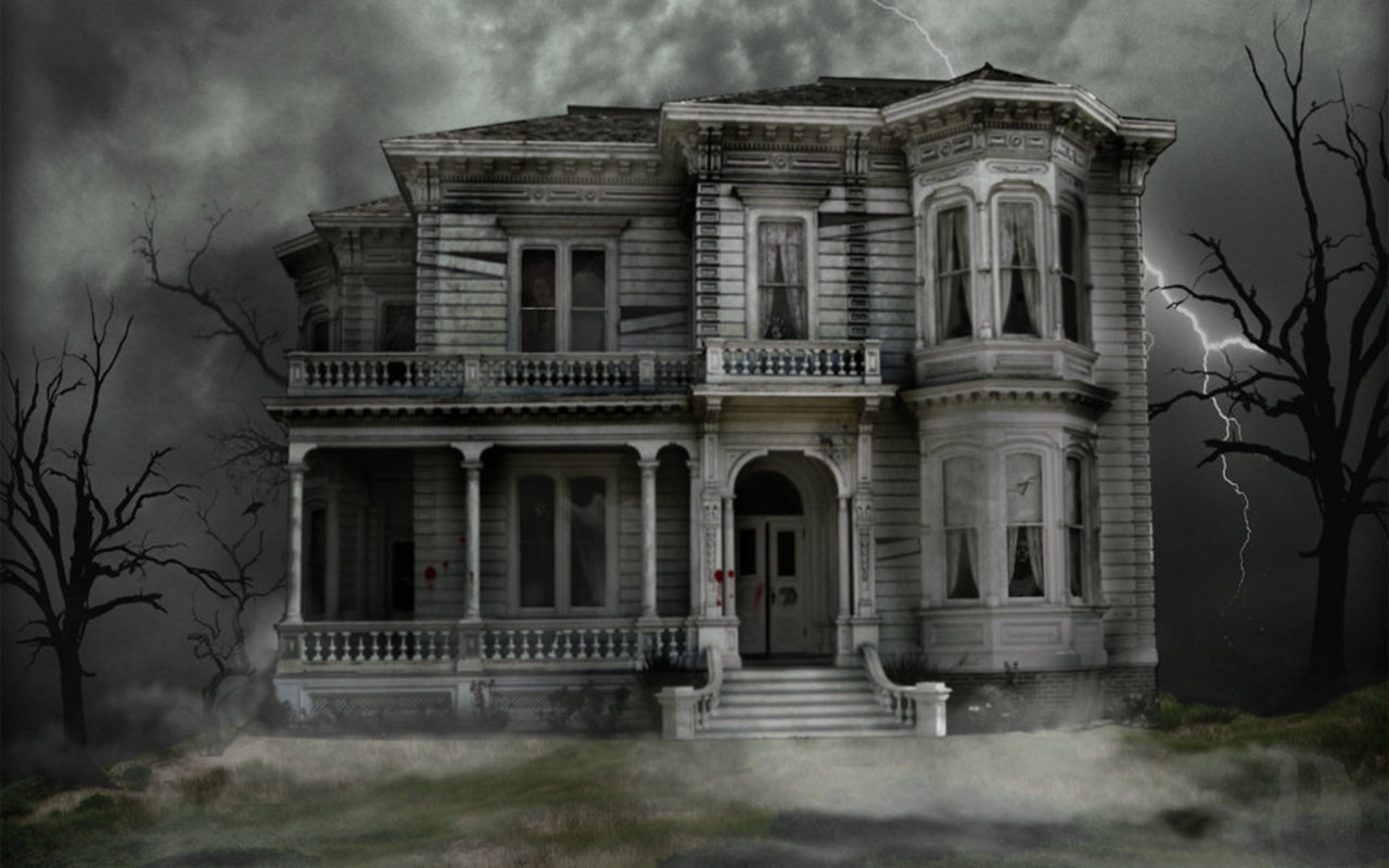 Haunted House   Halloween Wallpaper 16050708 1280x800
