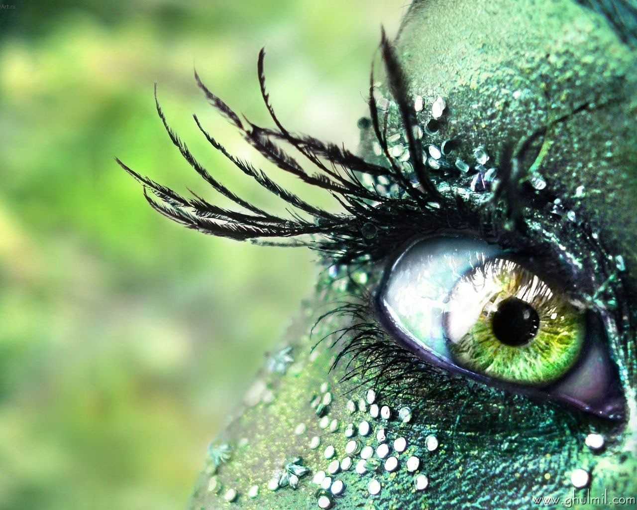 beautiful colorful 3d hd eye wallpaper for desktops E Entertainment 1280x1024