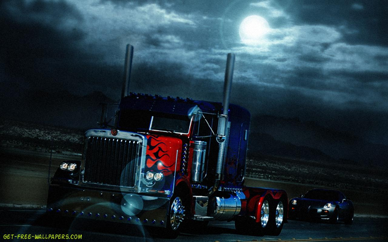 Download Optimus Prime Truck Transformers Wallpaper 1280x800