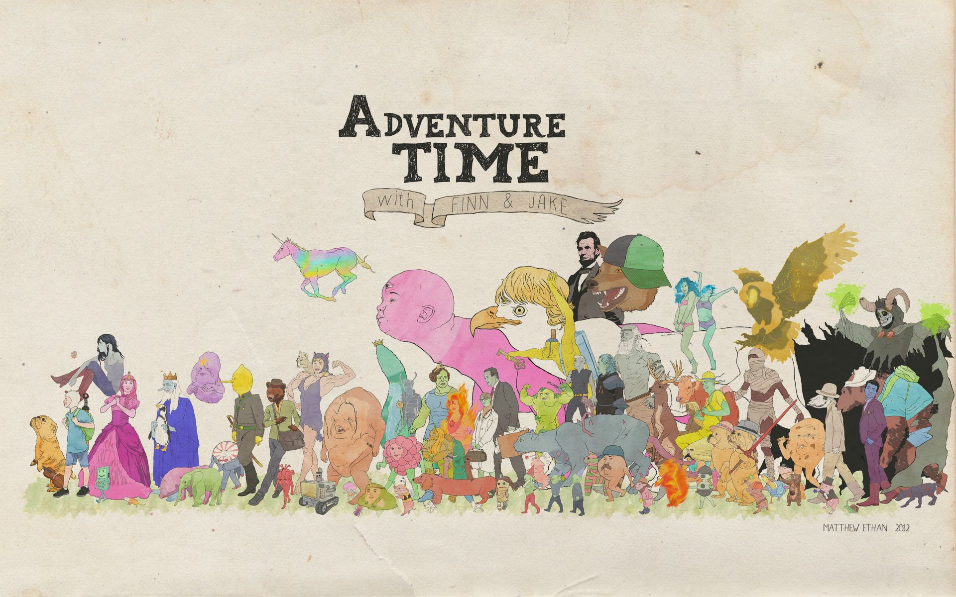 Adventure time wallpapers wallpapersafari description adventure time wallpaper is a hi res wallpaper for pc 1920x1200 altavistaventures Gallery