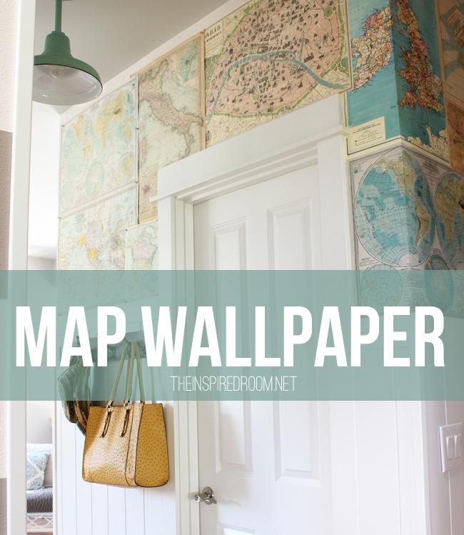 easy map wallpaper My Map Wallpaper Small Hallway 650x749