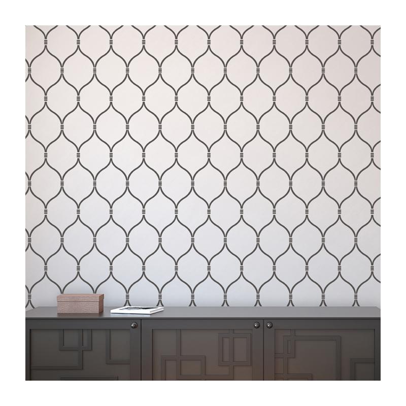 Wall Stencil Lattice Trellis Quatrefoil Pattern Azure  set2 sheets 800x800