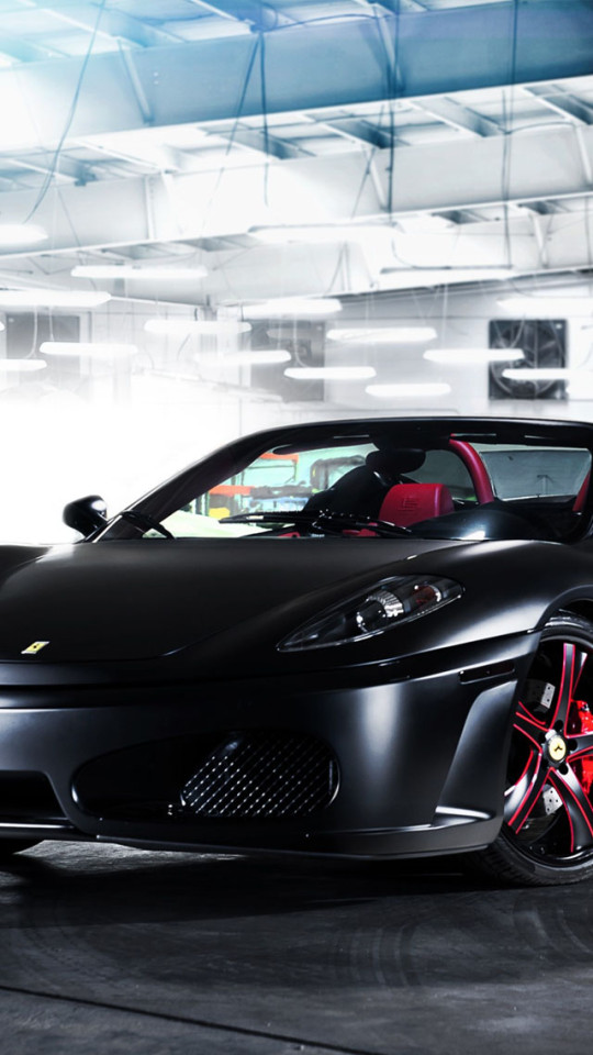 Black Ferrari F430 Spider Wallpaper IPhone Wallpapers 540x960