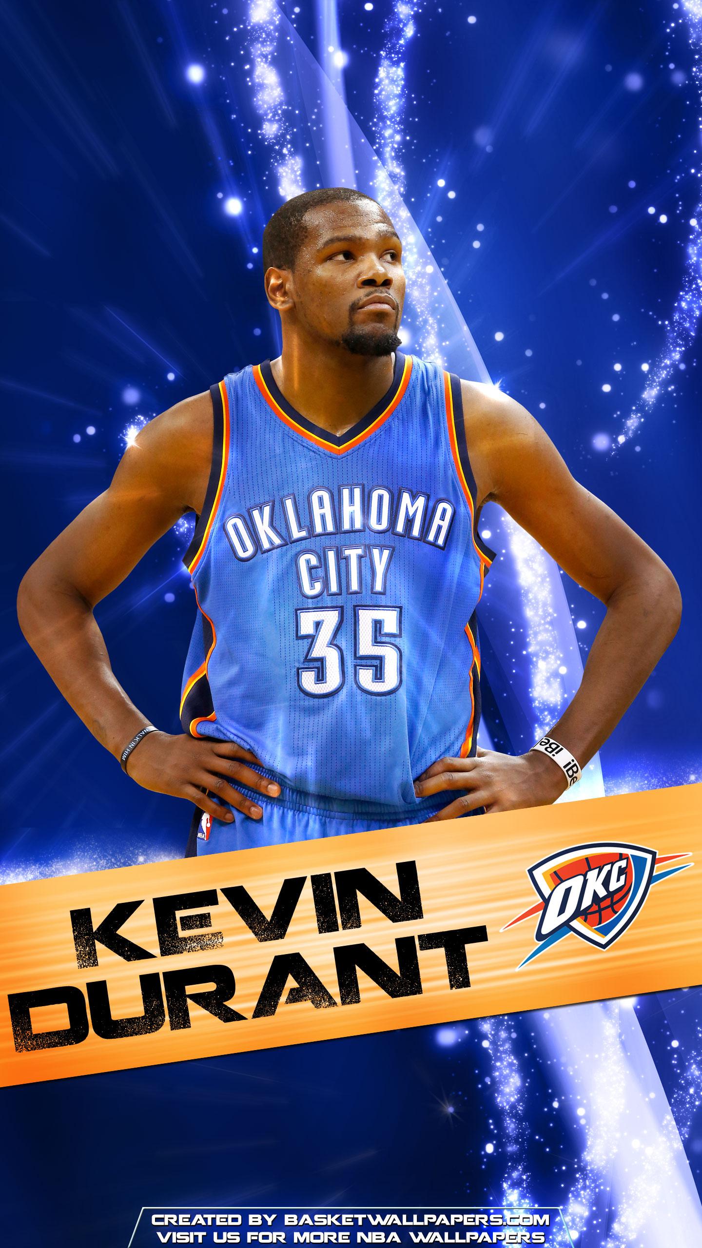 Kevin Durant OKC Thunder 2016 Mobile Wallpaper Basketball 1440x2560