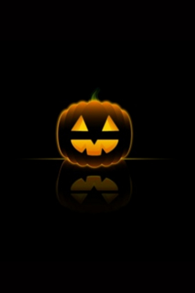 Halloween Pumpkin iPod Touch Wallpaper Background and Theme 640x960