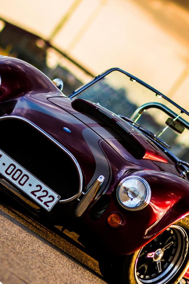Cobra classic car iPhone Wallpaper 640x960 iPhone 4 4S 640x960