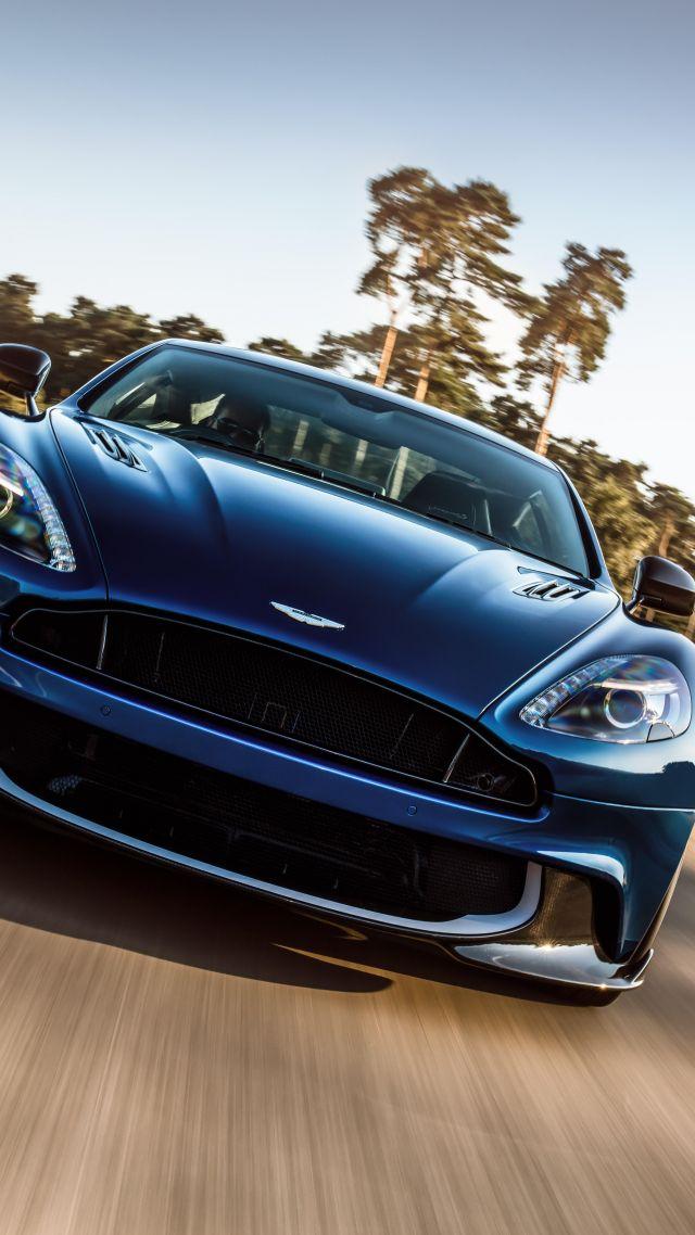 Wallpaper Aston Martin Vanquish supercar LA Auto Show 2016 Cars 640x1138
