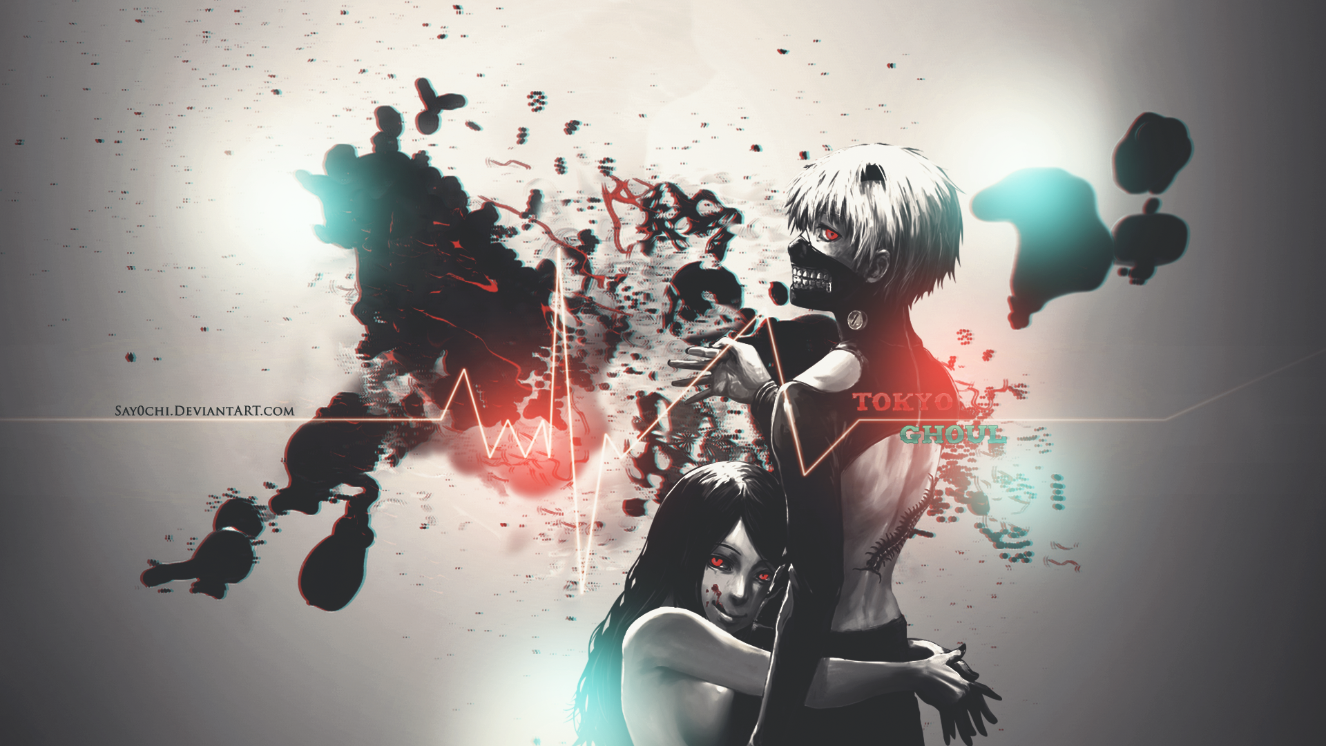 ghoul wallpaper 1920 x 1080 hd by say0chi customization wallpaper 1920x1080