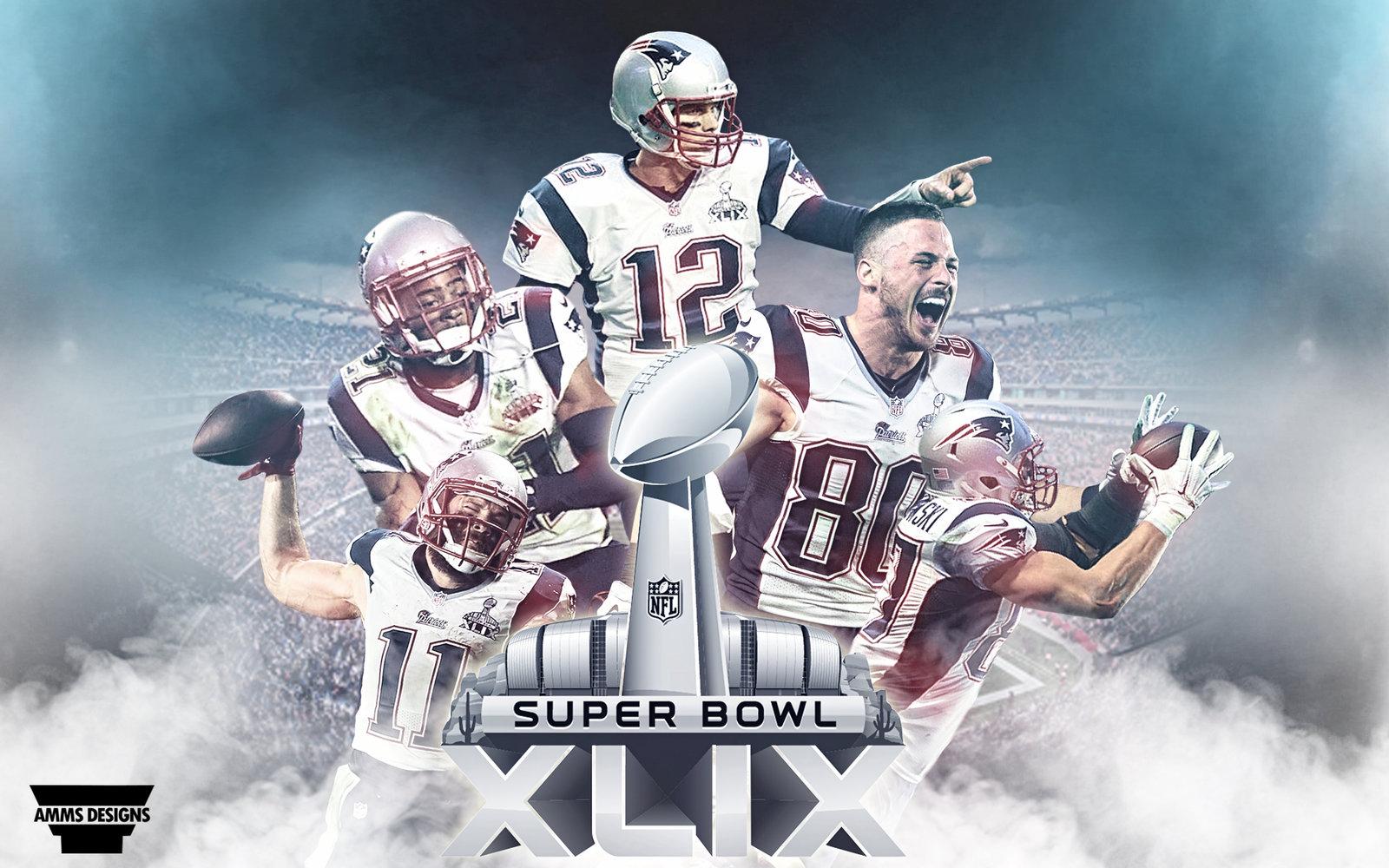 Patriots Superbowl XLIX Wallpaper by AMMSDesings 1600x1000