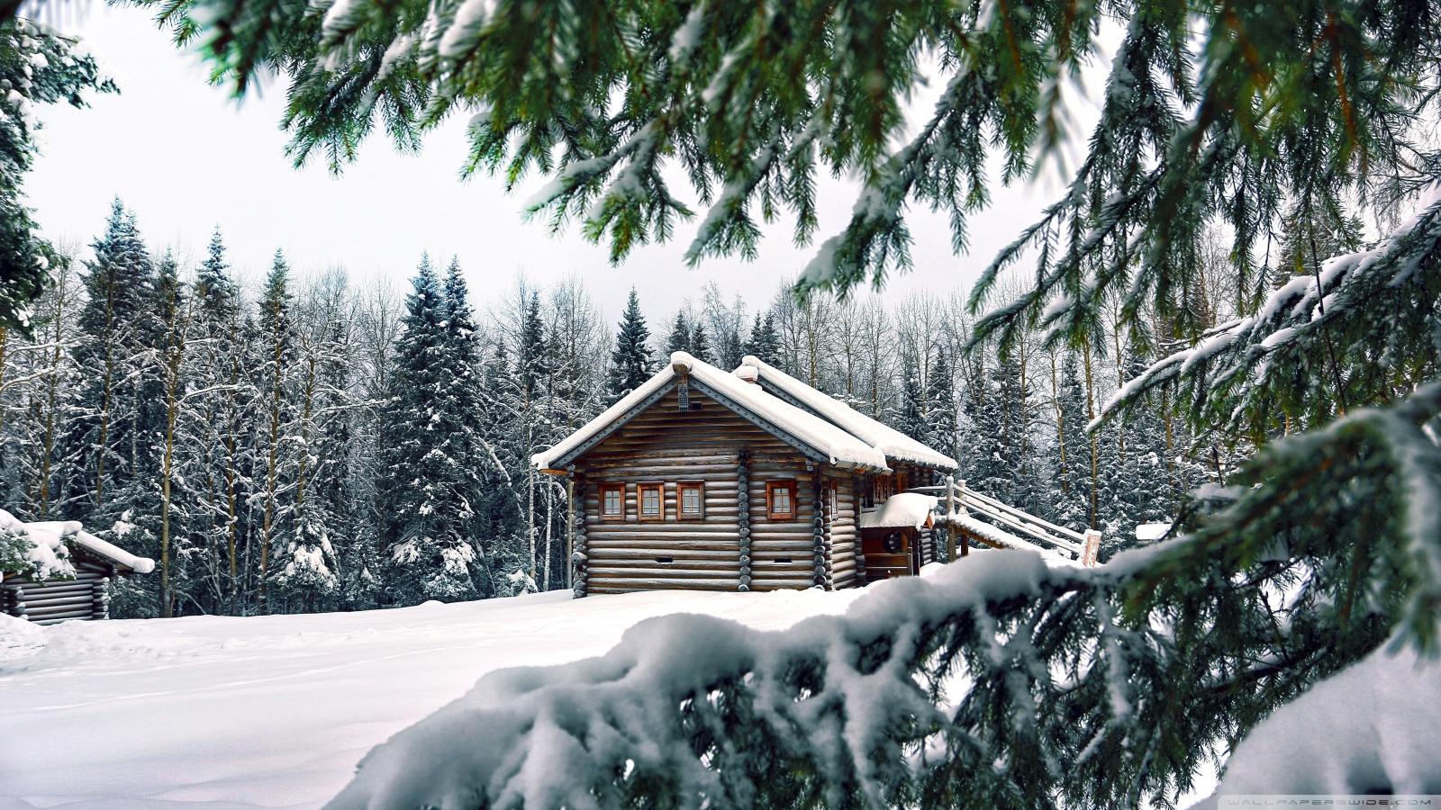 Mountain Retreat Winter Ultra HD Desktop Background Wallpaper for 1600x900