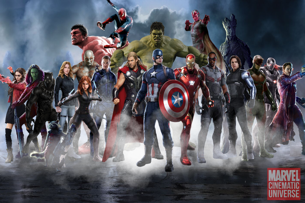 Marvel Cinematic Universe   HEROES by MrSteiners 1024x683