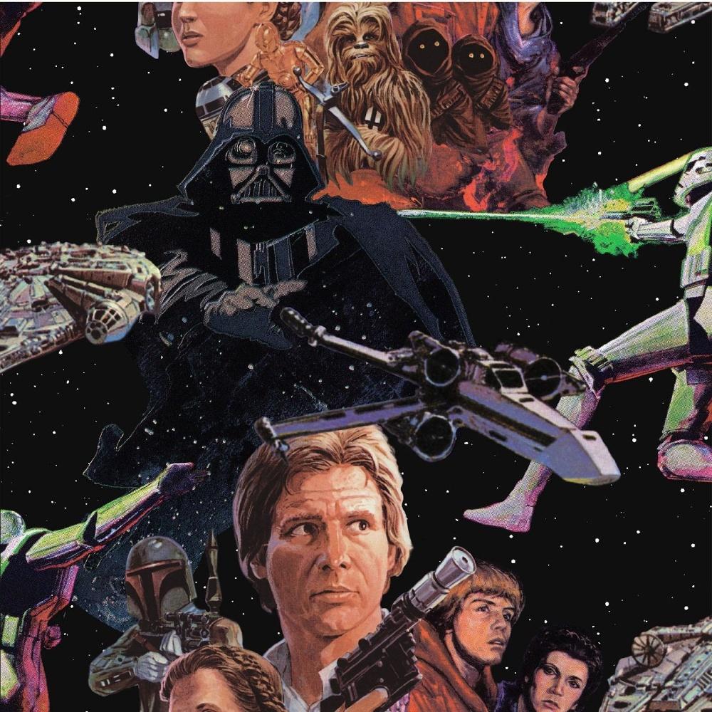 Disney Star Wars Movie Film Pattern Childrens Poster Wallpaper 70 453 1000x1000