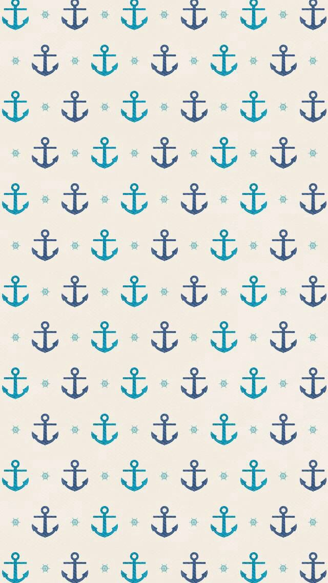 Small teal and navy blue anchor anchors on off white background 640x1136
