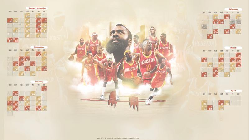 Houston Rockets 2015 2016 NBA Season Schedule HD Wallpapers 800x450