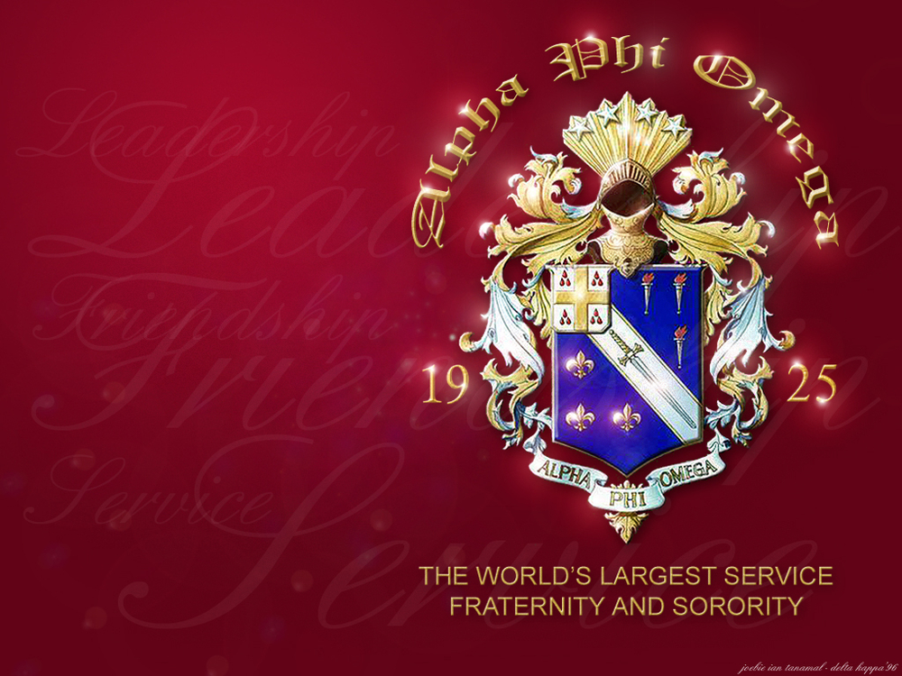 Wallpapers   Alpha Phi Omega by jctanamal   Customizeorg 1000x750